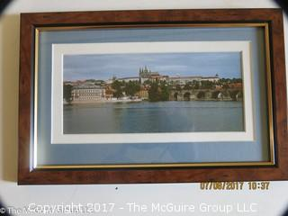 Framed photo of the Czech Capital; 7 1/2 x 11 1/2