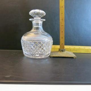 Crystal: Squat Lead Crystal Decanter w/ large stopper