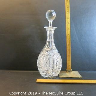 Crystal: Lead Crystal Decanter w/ narrow necked stopper