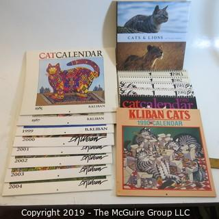 Books and VTG Cat Calendars