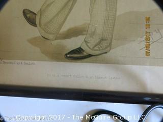 """Framed Vanity Fair Lithograph; """"Spy""""; 10 1/2 x 16"""
