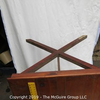 Furniture: Vintage: Hand-made Pine table top/desk w/ drawer