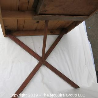 Furniture: Vintage: Hand-made Pine table top/desk w/ drawer