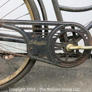 Collectible: Antique: Bicycle: circa 1940; Columbia w/ 1943-44 Smith College Plate; Northampton, MA. License