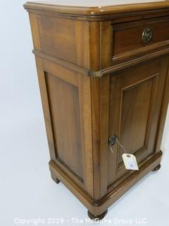 "Furniture: Vintage: Antique: Maple Cabinet; 19W x 13 1/2D x 31 3/4""T"