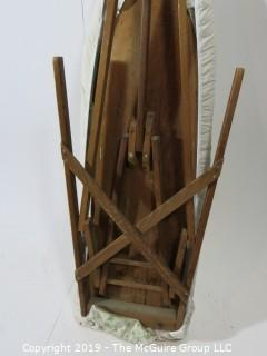 "Furniture: Vintage: Antique: Wooden Ironing Board ""Made in  Wash. DC"""