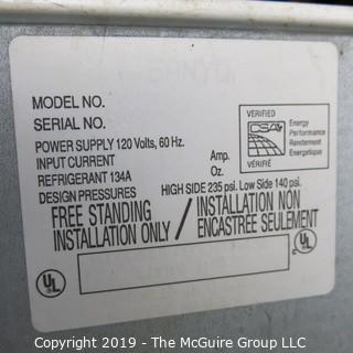"Household: Appliance: Sanyo Refrigerator/Freezer: White Enamel Surface  ~12 cu.ft.; 24W x 29D x 58""T"