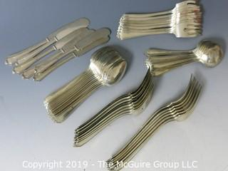 Collectible: Silver: Collection of sterling flatware - all same pattern; 1380g