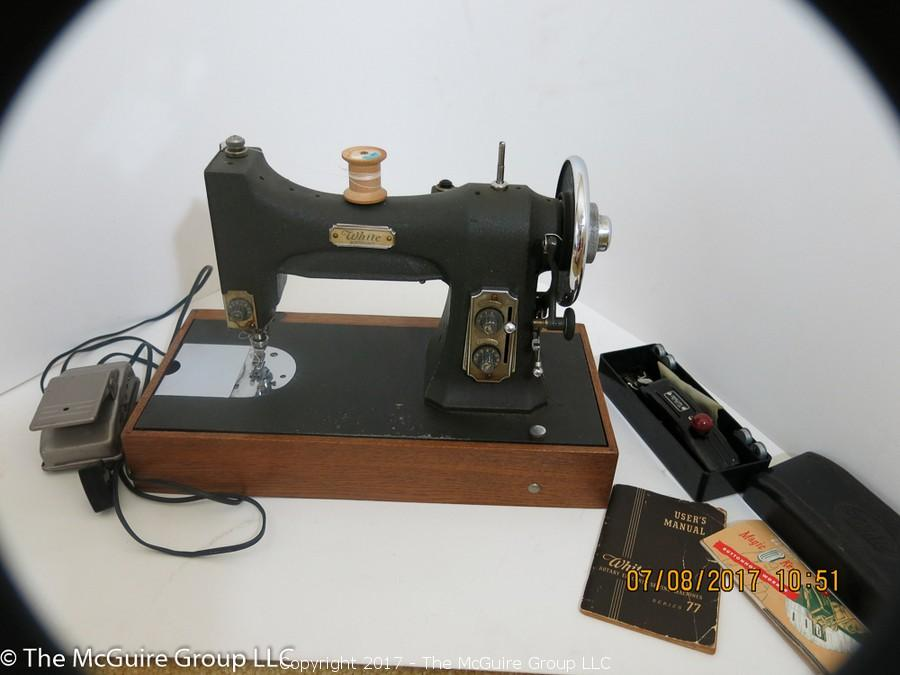 The McGuire Group LLC Auction N Arlington Estate Auction On Adorable White Sewing Machine Model 77