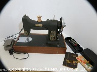 White Series 77 Rotary Electric Sewing Machine;  includes buttonhole attachment