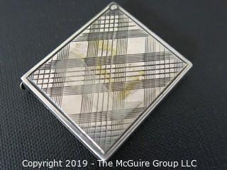 """Jewelry: Silver: 925: 1"""" square etched trinket case for photo?"""