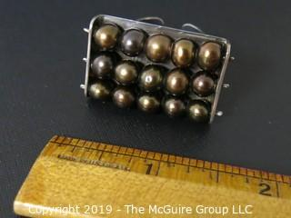 Jewelry: Silver: 925: Ring: stacked silver balls