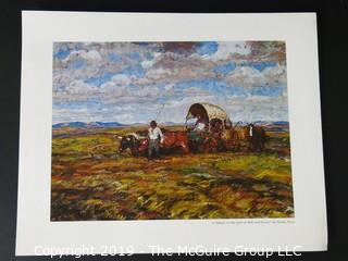 Art: Print: Collection: 14 prints by Harvey Dunn Western Prairie Theme