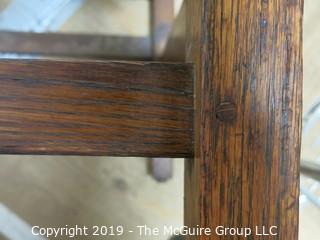 Furniture: Vintage: Mission Oak Pegged Ladder-back side chair missing seat