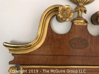"""Furniture: Vintage: George III Mahogany and Parcel-Gilt Wall Mirror; 28 x 42""""T"""