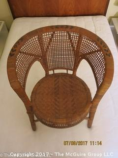 "Barrel back arm chair; 24W x 26 1/2""T"