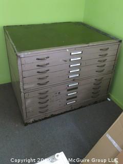Vintage Hamilton Industrial Metal Flat File