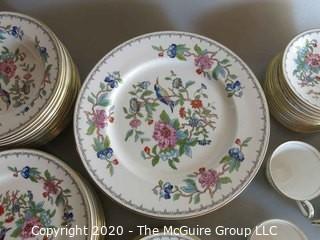 76 piece Set of Pembroke Aynsley China - Floral Pattern