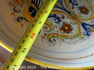 """Deruta Ceramiche Hand Painted Plate Made in Italy 13"""" in diameter"""