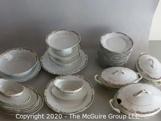 Set of Bavarian China includes serving pieces