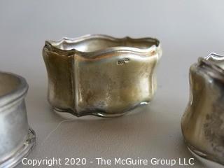 3 Silver 800 Napkin Rings