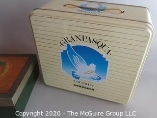 Group of Advertising Tins and Boxes