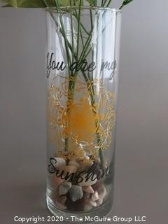 2 Vases with Artificial Flowers