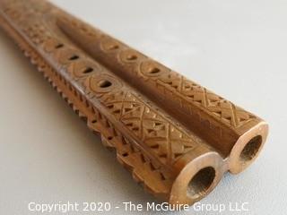 Carved Wooden Flute