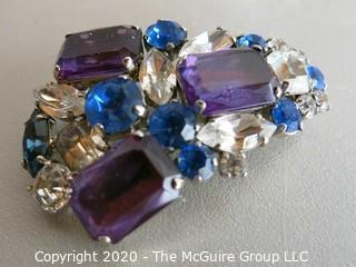 Group of Miscellaneous Jewelry - Includes some Sterling and a Signed Rhinestone brooch
