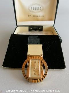 Swank 17 Jewel Watch Money Clip in Box