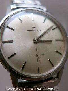 Men's Silver Hamilton Wrist Watch