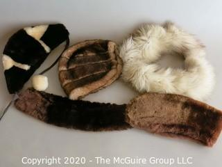 Group of Fur Hats and Wraps
