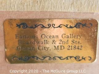Framed Oil on Canvas Beach Scene Signed by Artist - Wysoman (?)