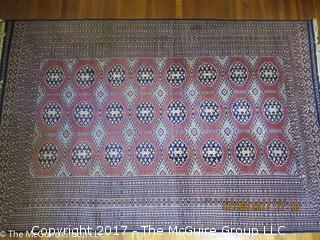Silk Oriental Carpet; 73 x 115