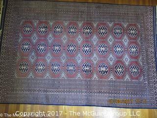 Silk Oriental Carpet; 73 x 115