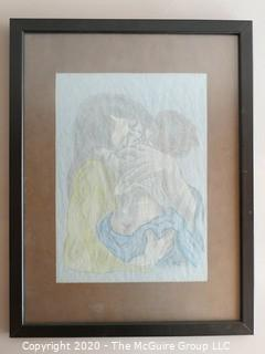 Framed Mother and Child Signed by Artist - Waneta