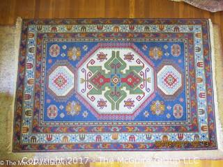 Wool Oriental Carpet; 57 x 84