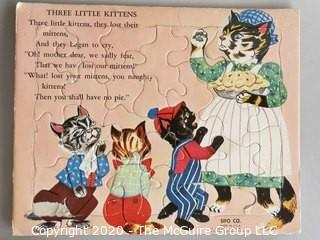 Four Vintage Children's Jigsaw Puzzles