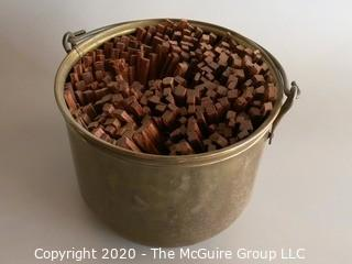 Brass Bucket with Fatwood