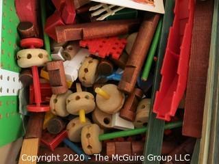 Vintage Box of Tinker Toys