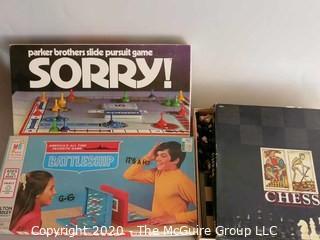 Group of Vintage Board Games