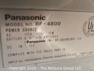 Panasonic Premix Double Superheterodyne System Shortwave Radio Receiver; powers up
