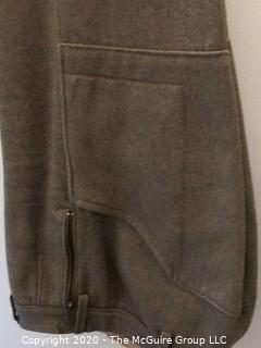 Vintage Pair of Men's Wool Breeches (Jodhpers), Made in England