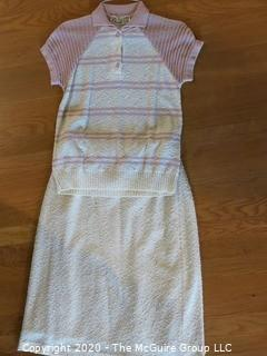 Vintage Christian Cavalier Paris Knit Two Piece Skirt and Top