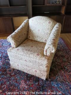 "Upholstered Two Seat Couch Sofa and matching Chair; Thomasville; 86 x 34 x 18 1/2"" seat height"