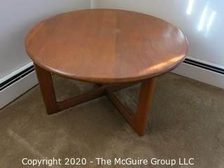 """Round Wooden Table; 36"""" diameter x 18 1/2"""" tall"""