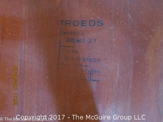 "Teak Coffee Table with Underlying Shelf; by Nils Jonsson for Hugo Troeds; Domi 27; Sweden: 79""L x 20W x 17""T"