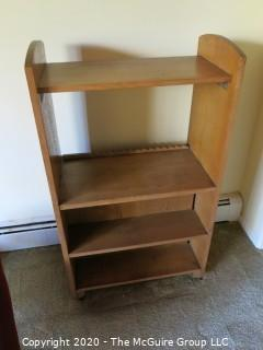 "Four Tier Book Shelf; 24 x 14 x 41"" tall"