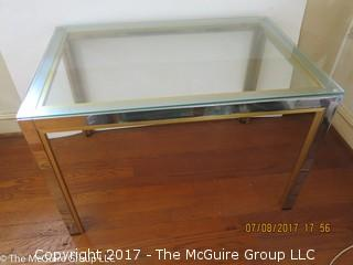 Modern Chrome and Glass Coffee Table; 22 x 32 x 20 1/2T
