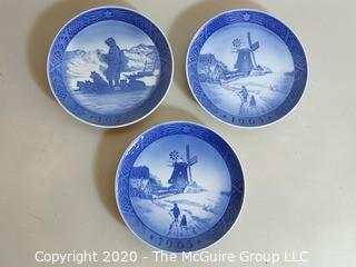 Collection of (3) Royal Copenhagen Christmas Plates